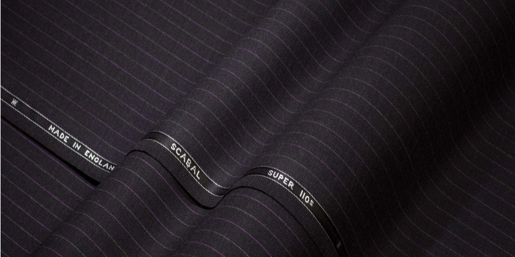 Galaxy fabric a special lustre helping to make each suit feel like a special edition