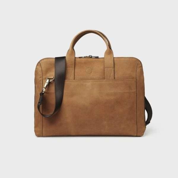 Gustav computer bag lght brown