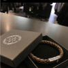Trendy braided male bracelet