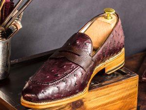 Loafer Ostrich men shoes