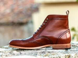 Military Brogue Boots