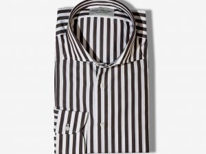STRIPED POPELINE CASUAL SHIRT